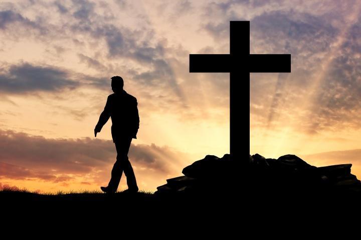 Silhouette of a man an atheist