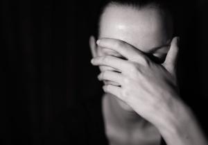 Portrait of sad woman.