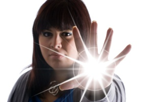 Woman with Super Powers - shallow depth of field